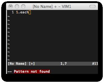図1: vim-rubyが正しく補完候補を生成している例