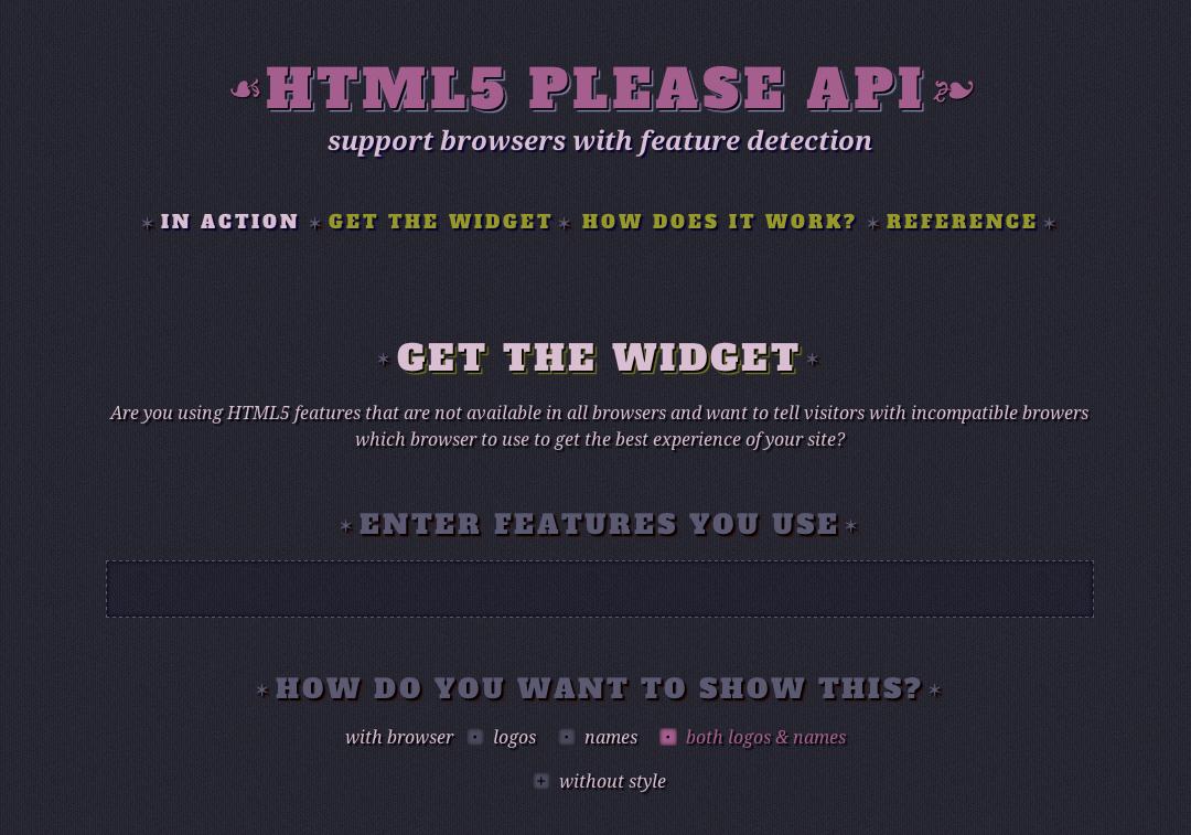 Html5please API   Divya Manian