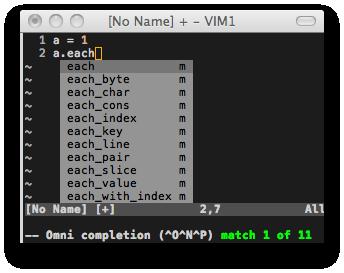 図2: vim-rubyが正しくない補完候補を生成してしまっている例